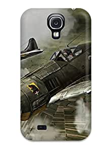 Nora K. Stoddard's Shop Galaxy S4 Case Cover - Slim Fit Tpu Protector Shock Absorbent Case (aircraft)