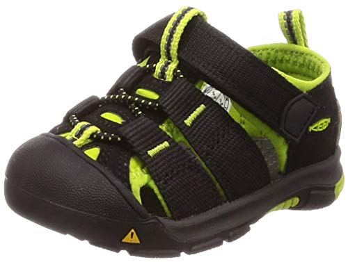 Lime Footwear - Keen Unisex Kid's Newport H2 Sandal, black/lime green, 5 M US Toddler
