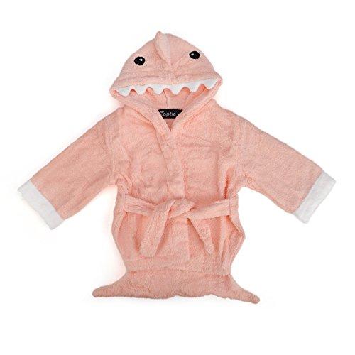 TopTie Blue Shark Hooded Bathrobe, Terry Baby Towel Bath Robe Shower 0-9 months SHARK2-S