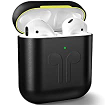 Metal Airpods 2 Case 2019 Newest Full Protective Skin Cover Accessories Kits Compatible Airpods Charging Case Ultra Lightweight Dustproof Scratchproof Case for Apple Airpods 1 & 2 Charging Case