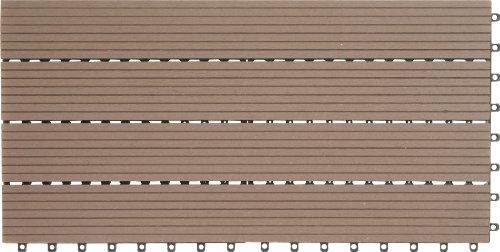 Erstaunlich EVERFLOOR WPC Bambusholz/Kunststoff Terrassenfliesen Bodenfliese 6  VC13