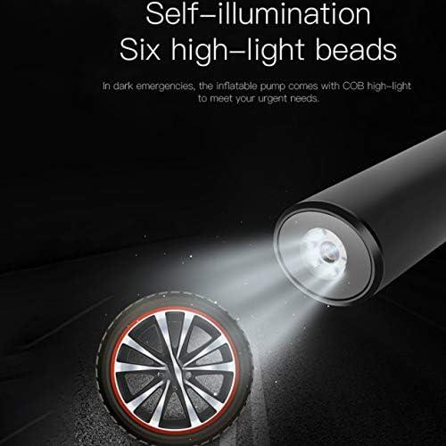 ポータブルUsbインターフェイスインフレータブルポンプ空気圧縮機Lcdディスプレイ車の自転車用タイヤボールスイミングリング-ブラック