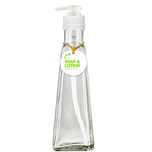 Couronne Company B5517PC00 Pyramid Recycled Glass Lotion or Soap Bottle, 6 oz, Clear, 1 Piece