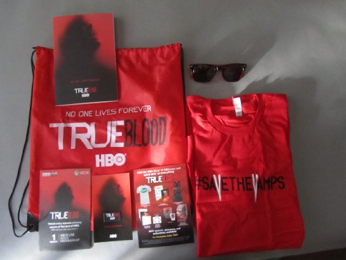 True Blood SDCC Comic Con 2013 HBO Promo Swag Bag Shirt Journal - Sunglasses Promo