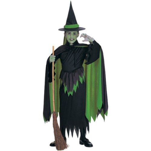 Wizard of Oz Child's Wicked Witch Costume, Large - Elphaba Costume For Kids