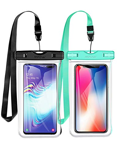 - Mpow Waterproof Phone Pouch, Upgraded New Type TPU Waterproof Case, One-Piece Design Underwater Cellphone Dry Bag Compatible with iPhone Xs Max/XS/XR/X/8, Galaxy S10, Note 9, Google up to 6.5