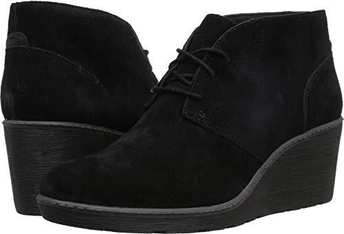 CLARKS Women's Hazen Charm Fashion Boot, Black Suede, 055 M US