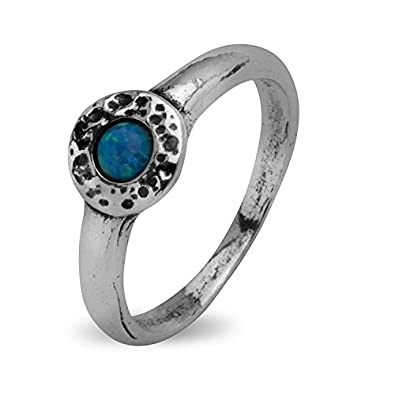 c2ab44c5f Shablool Didae Israel Sterling Silver Ring Round Opal Blue Ladies Women: Shablool  Jewelry Design: Amazon.co.uk: Jewellery