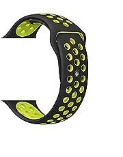 سوار رياضي من السيليكون بفتحات تهوية للساعة الذكية قياس 42 ملم