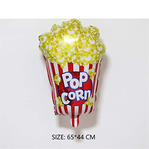 FOIBALDECO Food Vegetables Cartoon Foil Balloon Birthday Party Decoration Ball Delicious Pizza Movie Pop Corn 17]()