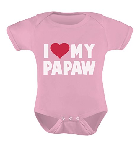 TeeStars - I Love My Papaw for Grandpa Baby Bodysuit 6M Pink