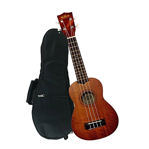 kala ka 15s mahogany soprano ukulele with free deluxe stronghold brand soprano uke soft case gig. Black Bedroom Furniture Sets. Home Design Ideas