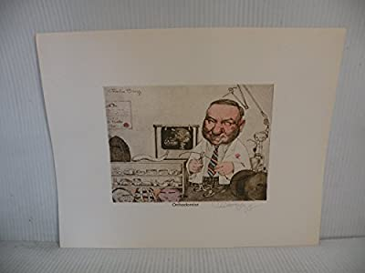 Art print Charles Bragg artistic Signed Color Lithograph ORTHODONTIST limited edition.