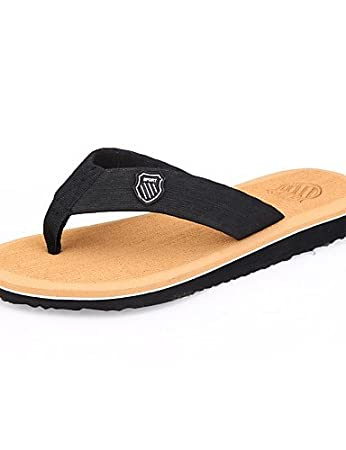 NTX/Herren Schuhe Outdoor/Casual Stoff Flip Flops, Schwarz/Braun Einheitsgröße brown-us8 / eu40 / uk7 / cn41