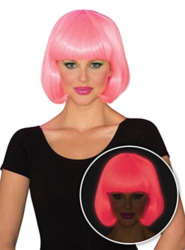 Rubie's Women's Glow Bob Wig, Pink, One -