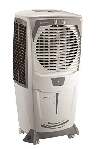 Crompton Ozone 75-Litre Desert Air Cooler (White/Grey)