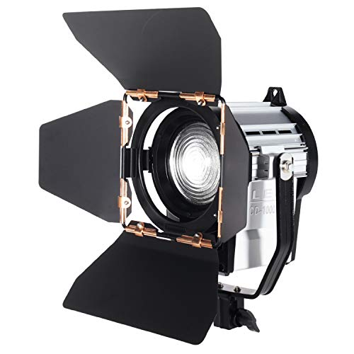 ASHANKS Dimmable Spotlight 100W LED Studio Fresnel Spot Light 3200-5500K for Studio Camera Photo Video