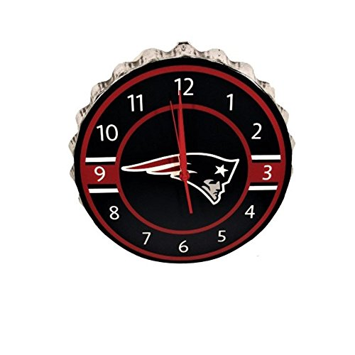 New England Patriots Bottlecap Clock