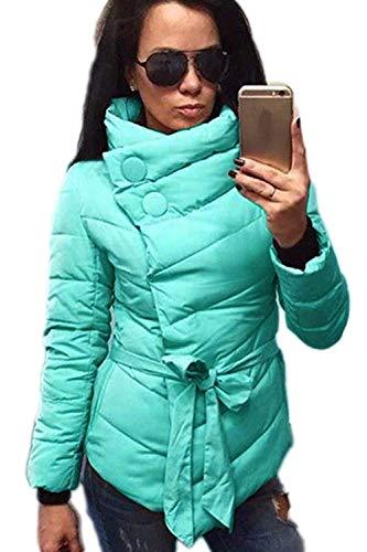 Puro Libero Elegante Giorno Transizione Maniche Colore Moda Cintura Caldo Inclusa Asimmetrico Giacca Verde Lunghe Trapuntato Cappotto di Grazioso Donna Cappotto Trapuntata Tempo Semplicemente vxq44Z