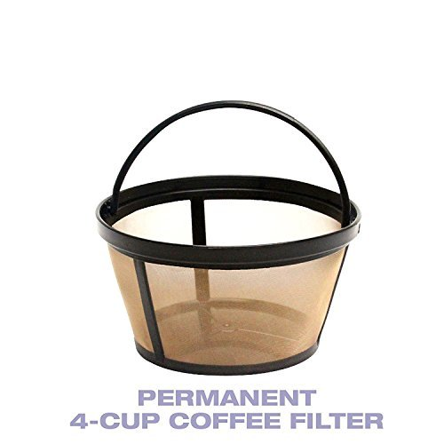5 X 4-Cup Basket Style Permanent Coffee Filter fits Mr. Coffee 4 Cup Coffeemakers (With Handle) by True Modern Electronics
