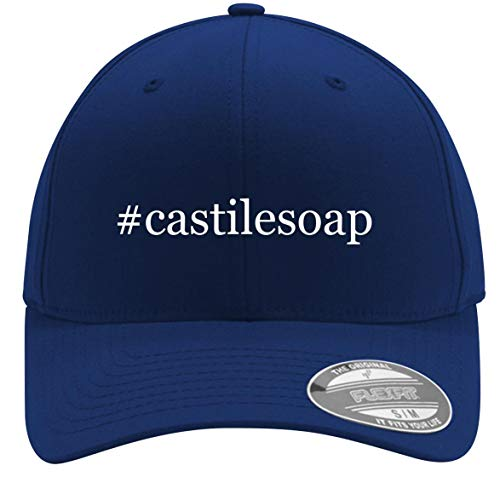 #castilesoap - Adult Men's Hashtag Flexfit Baseball Hat Cap, Blue, Small/Medium