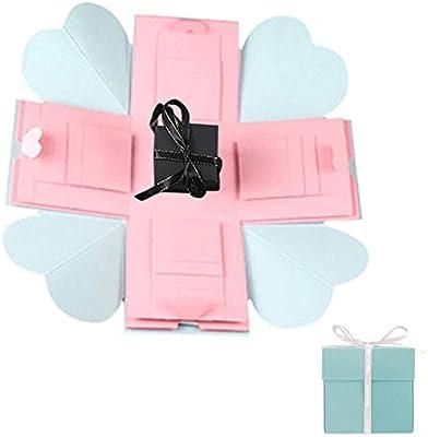 Caja explosiva de regalo de KOBWA, caja de regalo de amor DIY, sorpresiva, creativa, álbum de fotos para regalo de cumpleaños: Amazon.es: Hogar