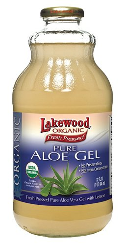 Aloe Vera Gel Juice - Lakewood Organic Pure Aloe Vera Gel, 32 Ounce (Pack of 6)