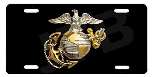 US Marine Corps Novelty Front License Plate Decorative Custom Metal Car Tag 12 X 6 Inch (Cool Front License Plate compare prices)