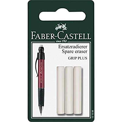Faber-Castell Grip Plus - Recambio de goma de borrar para lápices