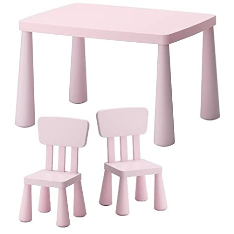 Ikea Niños Sillas & mesa infantil Mammut Lätt para interior y exterior – de plástico