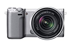 Sony Nex-5rks 16.1 Mp Mirrorless Digital Camera With 18-55mm Lens & 3-inch Lcd (Silver) (Old Model)