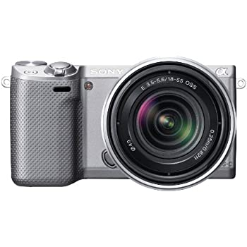 Sony NEX-5RK/S 16.1 MP Mirrorless Digital Camera with 18-55mm Lens and 3-Inch LCD (Silver) (OLD MODEL)