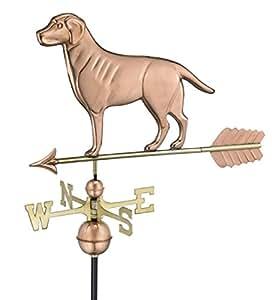 """23""""Labrador Retriever perro al aire libre de cobre pulido Weathervane con flecha"""