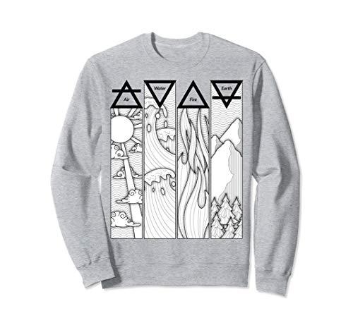 Element Boys Sweatshirt - Air Fire Water Earth Four Elements Greek Triangle Symbols