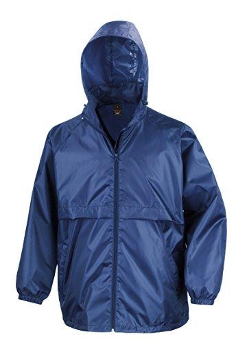 NEW Result Core Veste coupe-vent Homme pour Adulte Léger Fermeture Éclair Veste -  Bleu - Medium