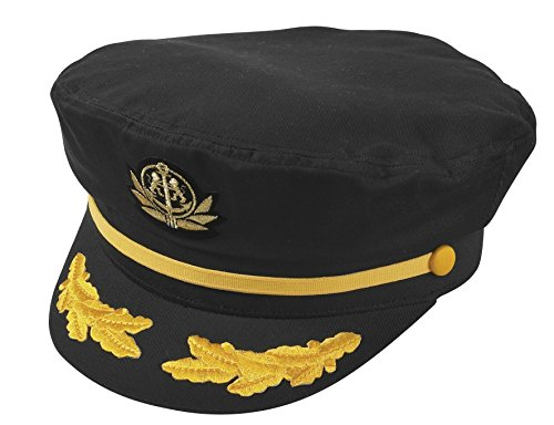 Broner Original Flag Ship Yacht Cap. One Size Fits Most (Black) -