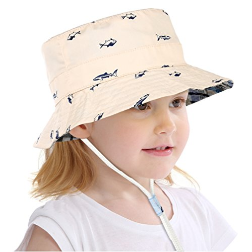 VBIGER Baby Kids Sun Hat Reversible Bucket Hat Summer Sun Protection Hat For Boys Girls Age 1-6 (20.5