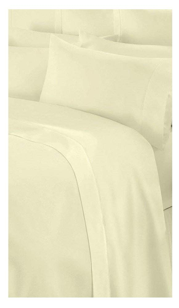 Flat Polycotton Percale Sheets All Sizes (Double, White) Sultan Textiles Limited