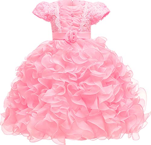 - Girl Dress Kids Lace Ruffles Pageant Party Wedding Dresses 3T