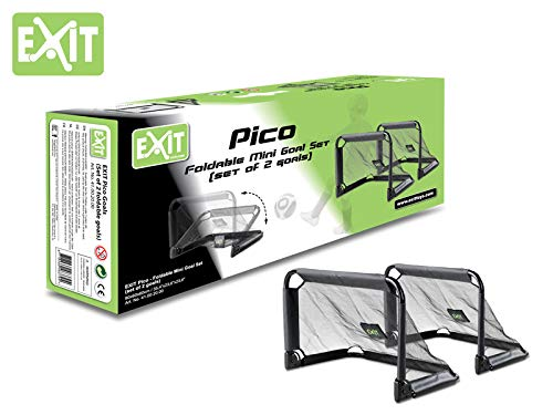 EXIT Pico Steel Soccer Goal 35x24 in (Set of 2) - Black by Exit Toys USA (Image #5)