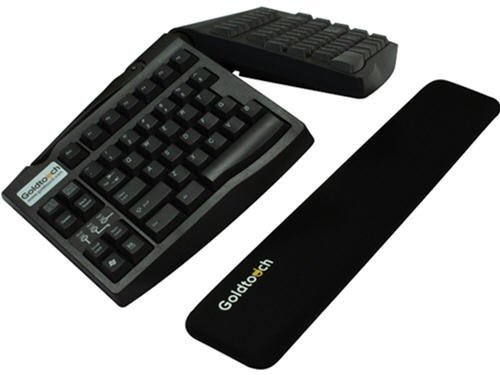 GOLDTOUCH GT Black Gel Filled Slim-Line Wrist Rest. Made from durable gel and smooth lycra,Goldtouch SlimLine Wrist Rest provides a cushion for typists using today s thinner full-sized and mini (Goldtouch Black Keyboard)