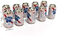 10Pcs/Set Beer Cans 1/12 Dollhouse Miniature Scene Beer Cans Model