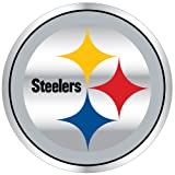 PITTSBURGH STEELERS LARGE 12 INCH TEAM LOGO REFLECTIVE MAGNET