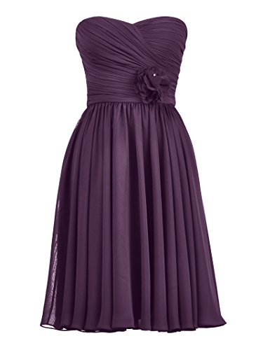 Short Cocktail Grape Dress Alicepub Party Bridesmaid Women's Chiffon Dress Sweetheart qnqWIvgZw
