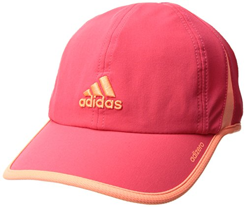 adidas Women's Adizero II Cap, Shock Red/Sun Glow, One Size