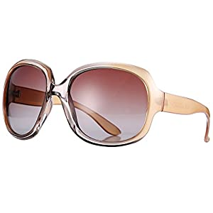 Pro Acme Oversized Polarized Sunglasses for Women | 100% UV Blocking | 5 Colors (Champagne)