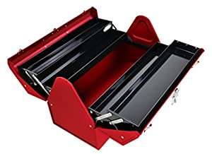 5. Kennedy Manufacturing 1022R 22 Hand-Carry Portable Cantilever Metal Tool Box, Industrial Red