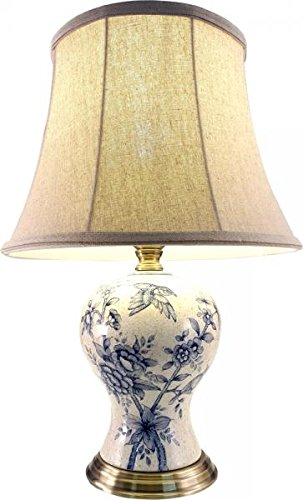 Downton interiors traditional antique style porcelain ceramic blue downton interiors traditional antique style porcelain ceramic blue bird bedside table lamp height 53cm gz074 aloadofball Images