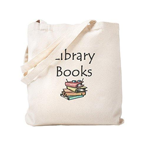 CafePress - Library Book - Natural Canvas Tote Bag, Cloth Shopping Bag