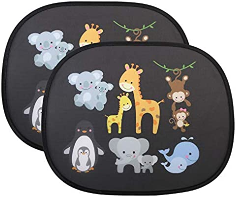 Car Window Shades for Kids Baby Pet UV Rays//Sunlight Protection Elephant Car Sun Shade Car Sunshades Shield Visor for Children with PVC Adsorption Electrostatic for Car Side Windscreen Window